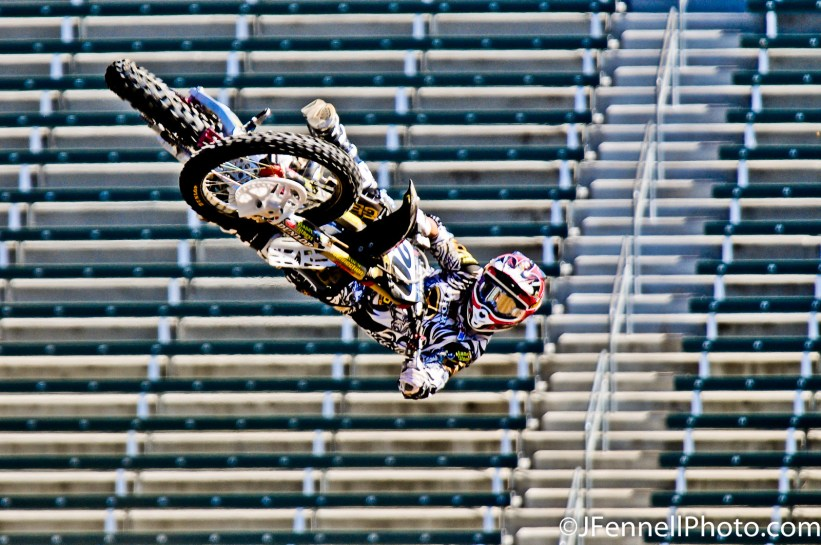 Josh Grant at X Games 14 in Los Angeles, Ca who would go on to capture a bronze medal in MotoX