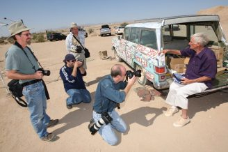 San Diego Photo Club 2008 at Salvation Mountain, Salton Sea. Lee Zook, Ken Rockwell, Karl Grobl, and the late Leonard Knight, creator of Salvation Mountain.