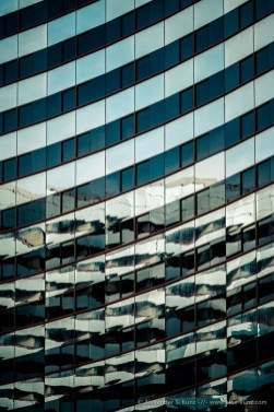 Lines in architecture: high-rise building detail