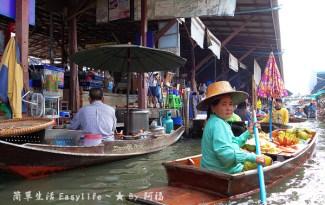[泰國旅遊] 丹嫩莎朵水上市場@新奇有趣體驗 (品嘗好吃米粉湯)
