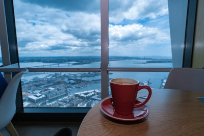 Coffee at the top of the Auckland Sky Tower