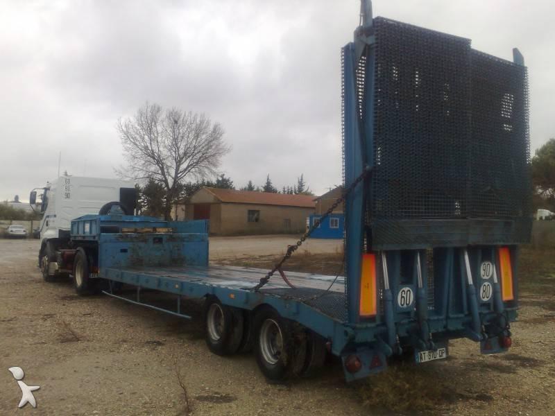 Semi Remorque ACTM Porte Engins Porte Char 2 Essieux