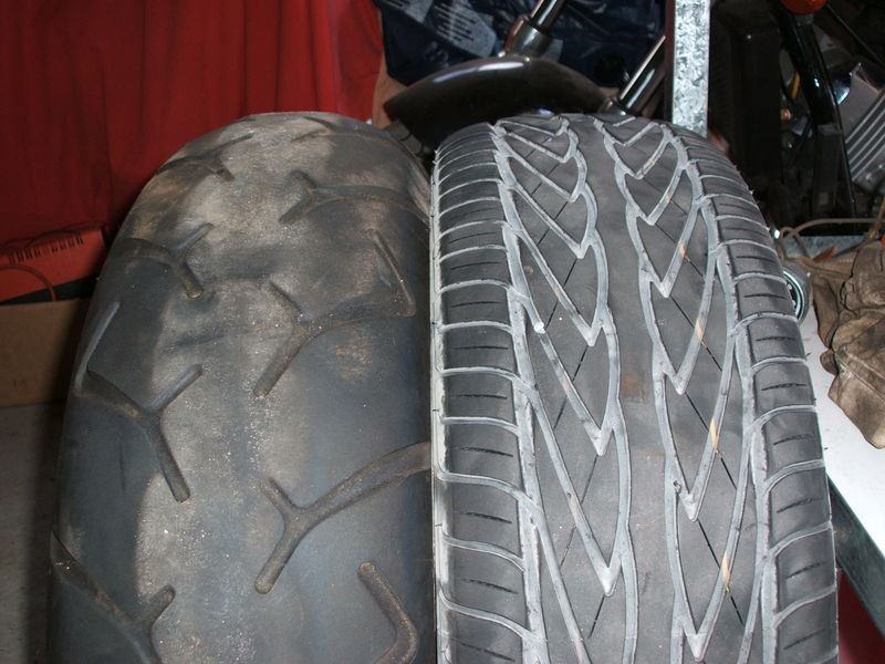 Rear Car Tire Size