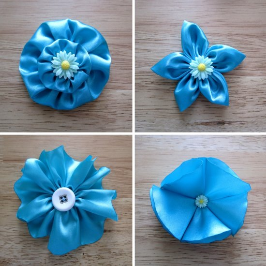 fabric flowers gallery   craftgawker     4 Easy Ways To Make Fabric Flowers