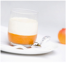 White Tea Mousse & Apricot Puree