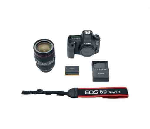 Canon EOS 6D Mark II DSLR Camera with EF 24 105mm - Canon 26.2 EOS 6D Mark II EF 24-105mm USM Kit with 3 LCD