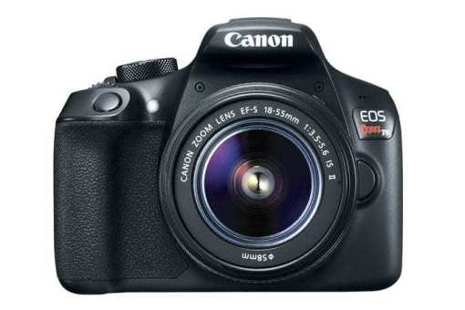 eos rebel t6 front d - Canon EOS Rebel T6 Digital SLR Camera + 18-55mm EF-S f/3.5-5.6 IS II Lens