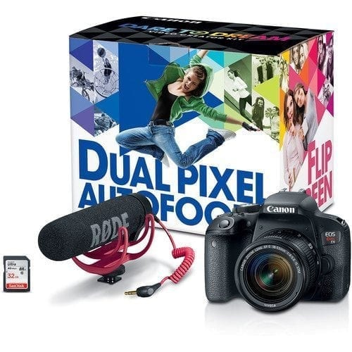 bab7331d b7b5 45f3 98ad 917ed04a5df1 - Canon EOS Rebel T7i 24.2MP DSLR Camera with 18-55mm Lens Video Creator Kit