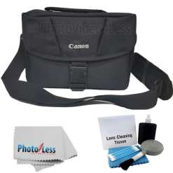 0505933c adc6 4c8d b7e0 a943ab02ead1 - Canon Genuine Padded Starter Digital SLR Camera Lens Shoulder Bag Case Gadget EOS + Cleaning Cloth and Camera & Lens 5 Piece Cleaning Kit