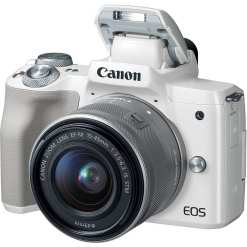 Canon EOS M50 Mirrorless Digital Camera with 15 45mm Lens White 02 - Canon EOS M50 Mirrorless Camera Kit w/ EF-M15-45mm Lens and 4K Video (White)