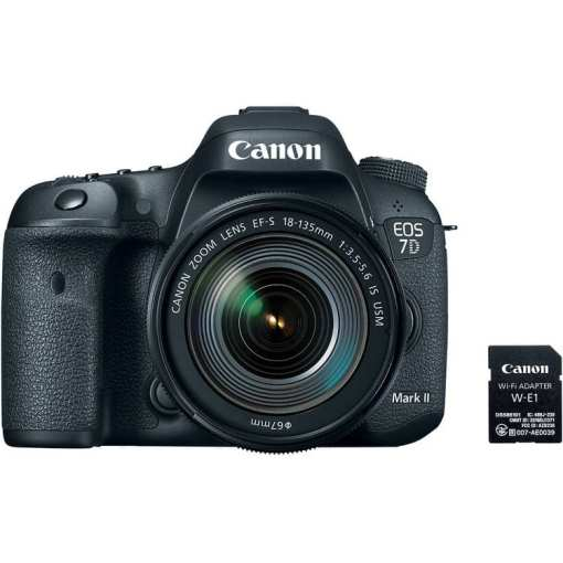 Canon EOS 7D Mark II DSLR Camera with 18 135mm f 3.5 5.6 IS USM Lens W E1 Wi Fi Adapter 02 - Canon EOS 7D Mark II Digital SLR Camera with EF-S 18-135mm IS USM Lens Wi-Fi Adapter Kit