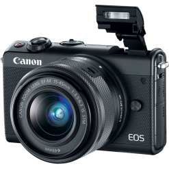 Canon EOS M100 Mirrorless Digital Camera with 15 45mm Lens Black 02 - Cart