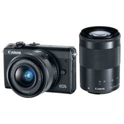 Canon EOS M100 Mirrorless Digital Camera with 15 45mm and 55 200mm Lenses Black 01 - Canon EOS M100 w/ 15-45mm Lens & 55-200mm Lens - Wi-Fi, Bluetooth, and NFC enabled (Black)