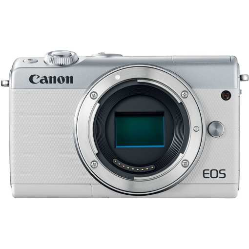 Canon EOS M100 Mirrorless Digital Camera with 15 45mm and 55 200mm Lenses White 012 - Canon EOS M100 Mirrorless Digital Camera with 15-45mm and 55-200mm Lenses (White)