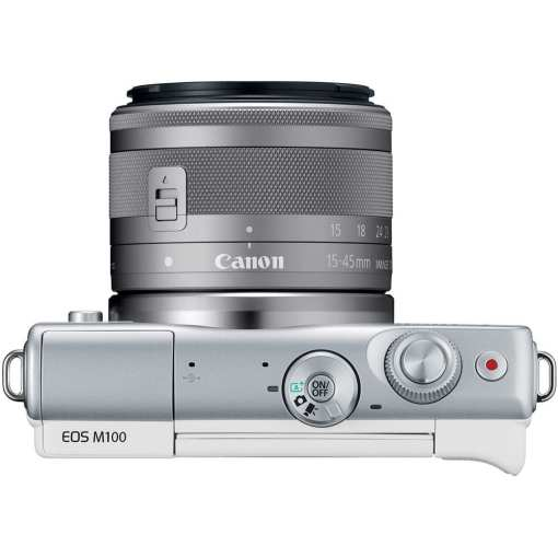Canon EOS M100 Mirrorless Digital Camera with 15 45mm and 55 200mm Lenses White 09 - Canon EOS M100 Mirrorless Digital Camera with 15-45mm and 55-200mm Lenses (White)