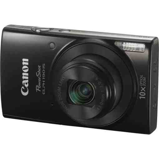 Canon PowerShot ELPH 190 IS Digital Camera Black 01 - Canon PowerShot ELPH 190 IS with 10x Optical Zoom and Built-In Wi-Fi (Black)