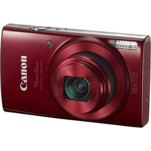 Canon PowerShot ELPH 190 IS Digital Camera Red 01 - Canon PowerShot ELPH 190 IS with 10x Optical Zoom and Built-In Wi-Fi (Red)