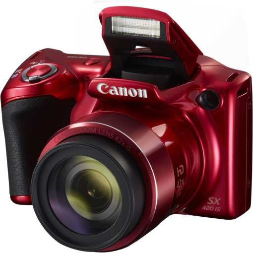 Canon PowerShot SX420 IS Digital Camera Red 02 - Canon PowerShot SX420 IS with 42x Optical Zoom and Built-In Wi-Fi (Red)