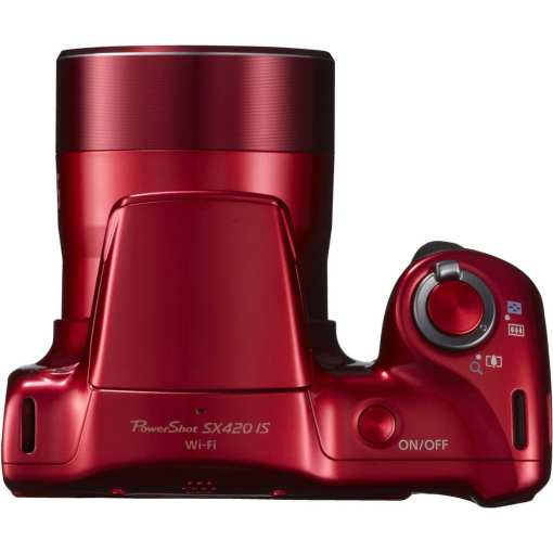 Canon PowerShot SX420 IS Digital Camera Red 06 - Canon PowerShot SX420 IS with 42x Optical Zoom and Built-In Wi-Fi (Red)