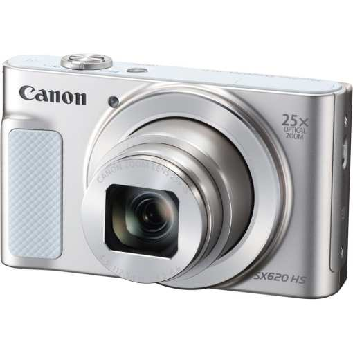 Canon PowerShot SX620 HS Digital Camera Silver 01 - Canon PowerShot SX620 Digital Camera w/25x Optical Zoom - Wi-Fi & NFC Enabled (Silver)