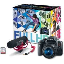 a57385e5 dd25 4aa8 8689 1f1761995509 - Canon EOS Rebel T6i Video Creator Kit with 18-55mm Lens, Rode VIDEOMIC GO and Sandisk 32GB SD Card Class 10 - Wi-Fi Enabled