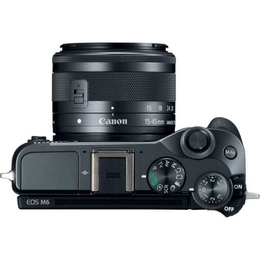 e5dc96ee 9f7a 49a5 aee6 ce8d6a973609 - Canon EOS M6 EF-M 15-45mm f/3.5-6.3 IS STM Lens Kit (Black)
