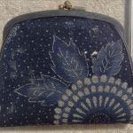 藍染めがま口財布1