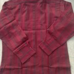 メンズ長袖シャツ赤4