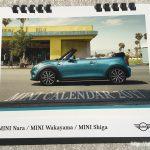 BMWミニ2017卓上カレンダー