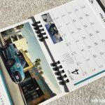 BMWミニ2017卓上カレンダー4月