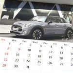 BMWミニ2017カレンダー10月