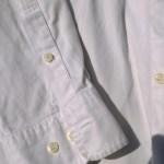 ラコステボタンダウンシャツ白袖口