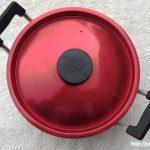 レトロなアルミ製両手鍋1