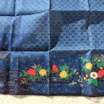 花柄藍染ハンカチ4