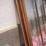 透明ガラス引き違い戸変則サイズ上部