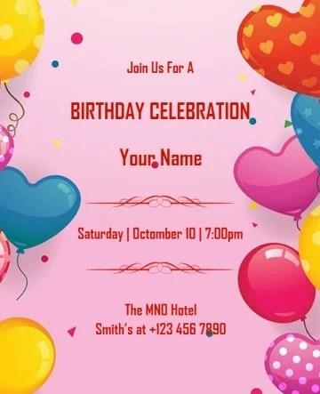 free birthday invitation maker
