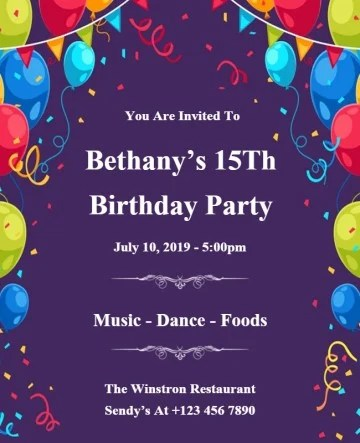 free birthday invitation maker