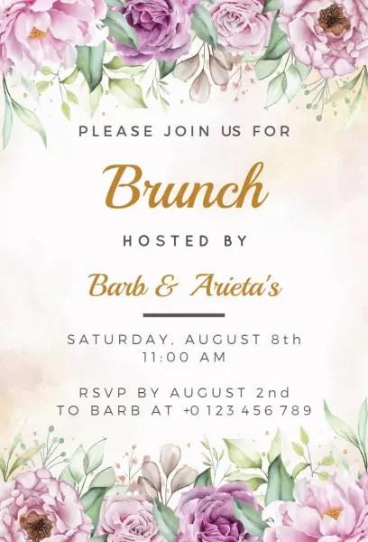 brunch invitation templates photoadking