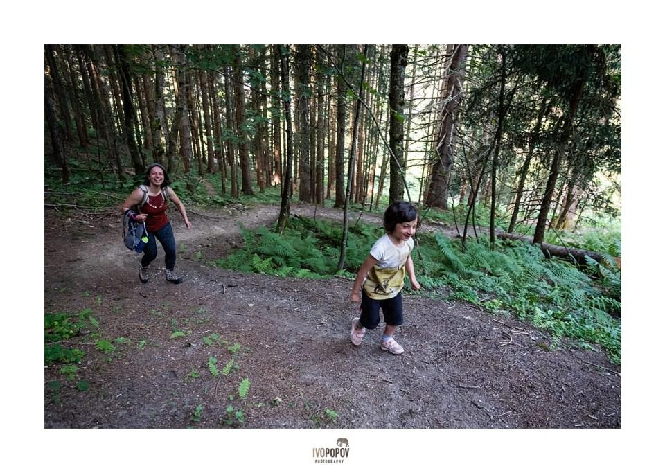 Family photo session in Chamonix