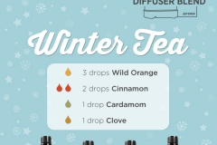 Winter tea essential oil diffuser recipes