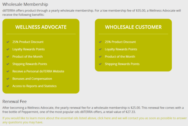 Doterra wholesale membership