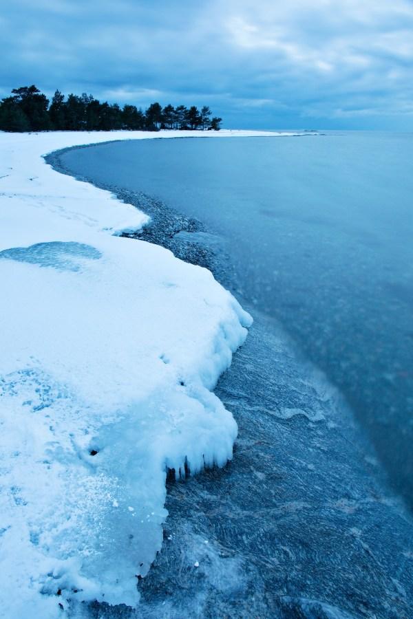 Örudden in winter.
