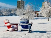 Lounge Chairs in Snow