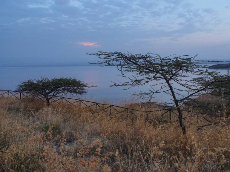 Sunset view Lake Langano
