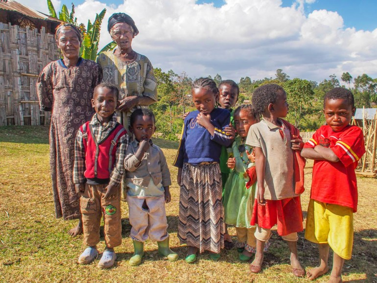 family of grandmothers and children Ethiopia