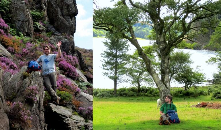 Brendt enjoying Wales scenery