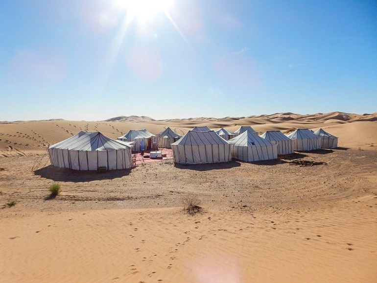 desert camp in the Sahara