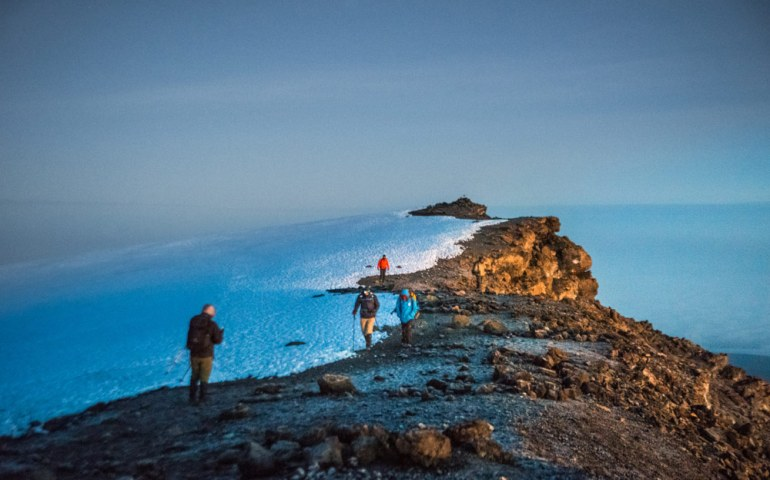 almost at the summit of Kilimanjaro