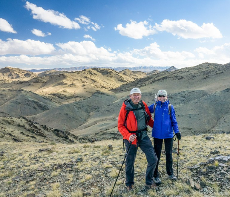 hiking in the gobi desert