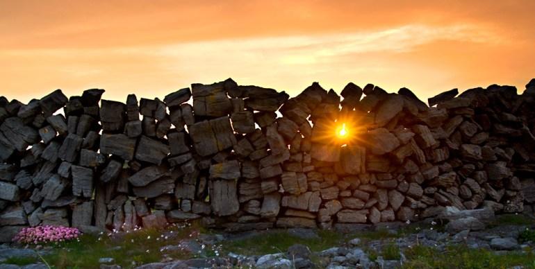 sunset on Inishmore Ireland